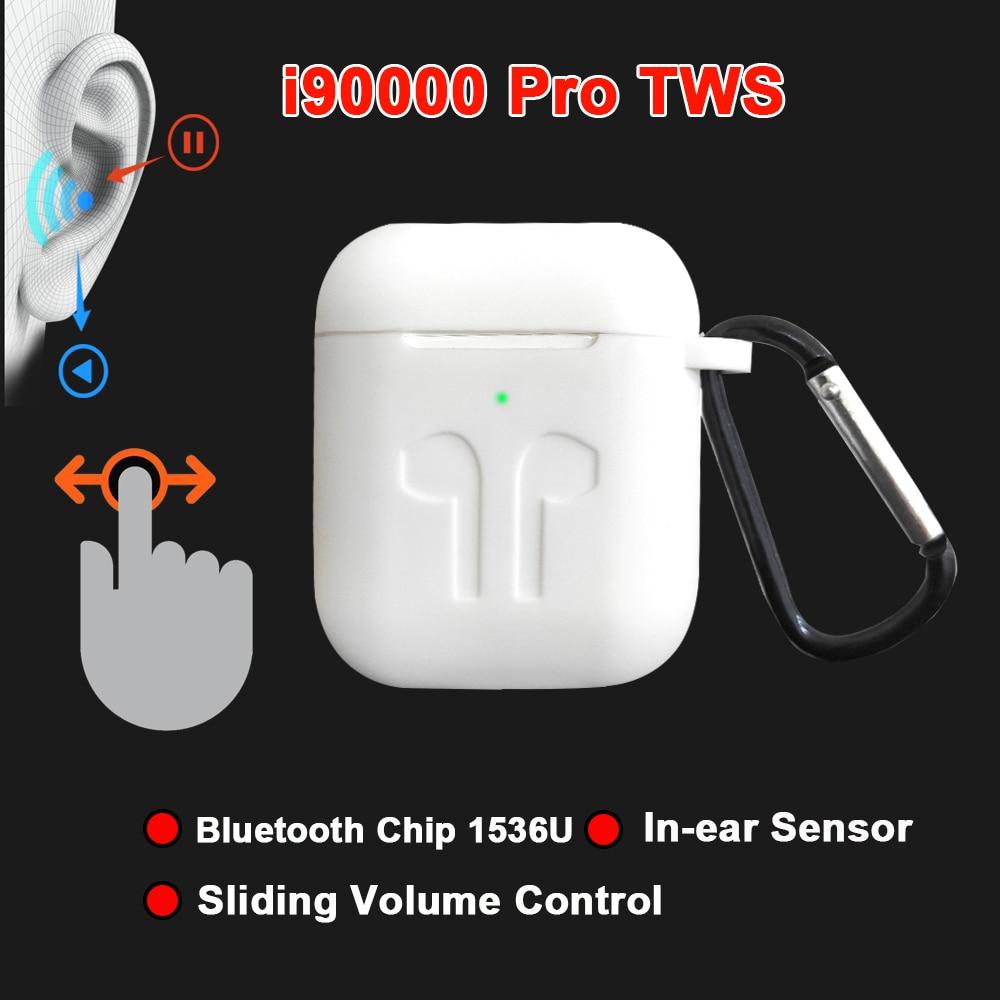 I90000 Pro TWS Erie 2 auriculares inalámbricos 8D Super Bass Bluetooth 5,0 auriculares deslizantes ajuste de volumen auriculares PK i5000 i9000tws