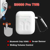 I90000 pro tws arie 2 fone de ouvido sem fio 8d super bass bluetooth 5.0 ajuste volume deslizante fones pk i5000 i9000tws