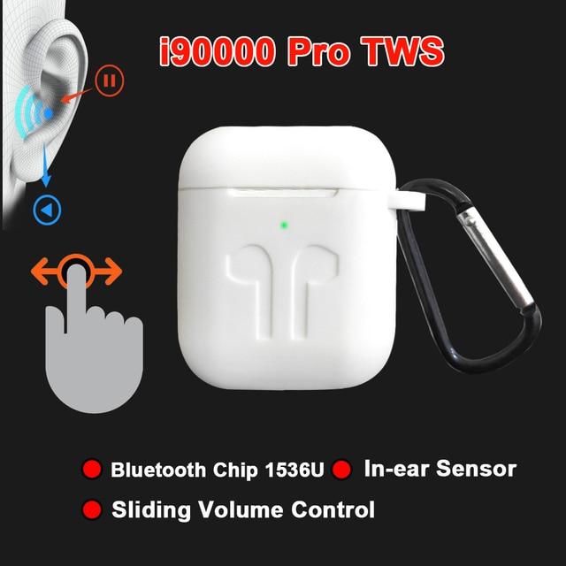 i90000 Pro TWS Arie 2 Wireless Earphone 8D Super Bass Bluetooth 5.0 Earphone Sliding Volume Adjustment Earbuds PK i5000 i9000tws
