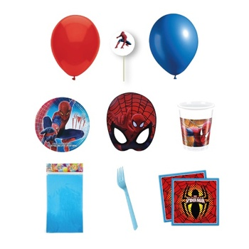Spiderman (Spider Man) Party Supplies Kit 40 Personality