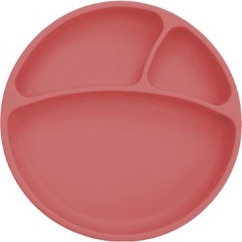 OiOi naczynie silikonowe na bazie próżni burgundowe tanie i dobre opinie Unisex 13-24m TR (pochodzenie)