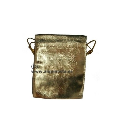 BAG TO STORE AMULETS GOLDEN 9 Cm X 12 Cm