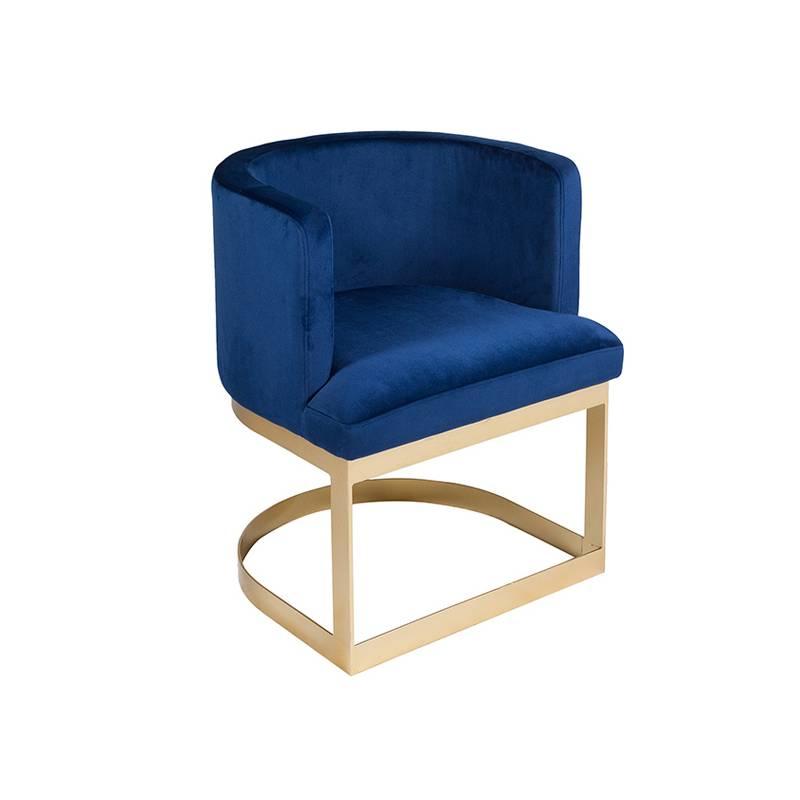 Dining Chair Pine Wood Blue (60x55x76 Cm)