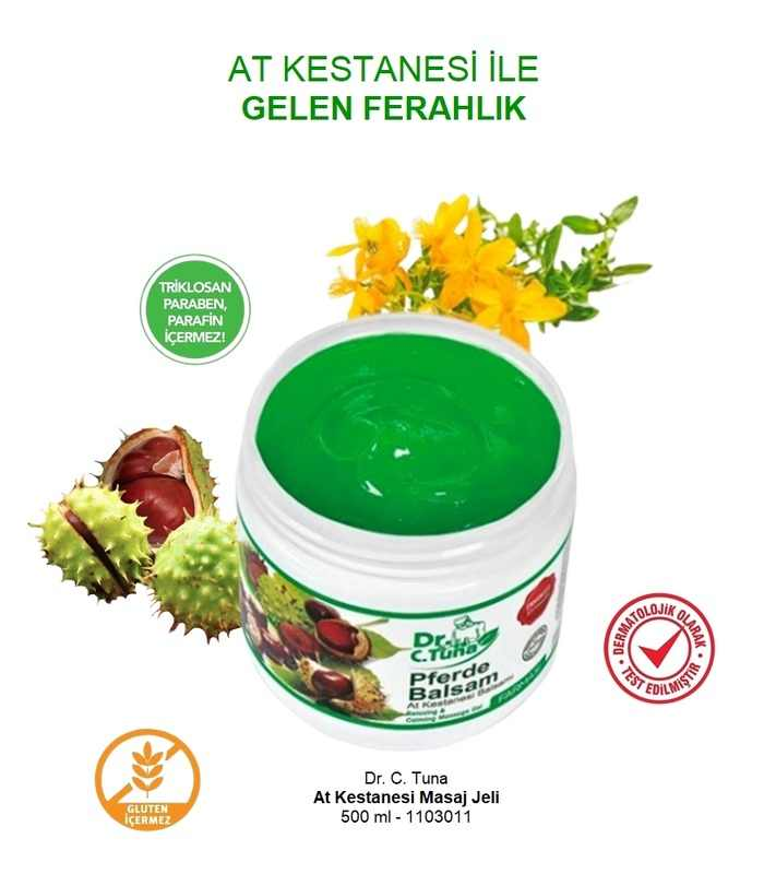 Horse Chestnut Massage Gel 500 Ml Farmasi Dr Cevdet Tuna
