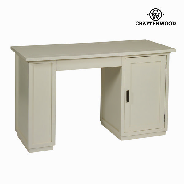 Desk Mindi Wood White (130 X 78 X 55 Cm) - Serious Line Collection By Craftenwood