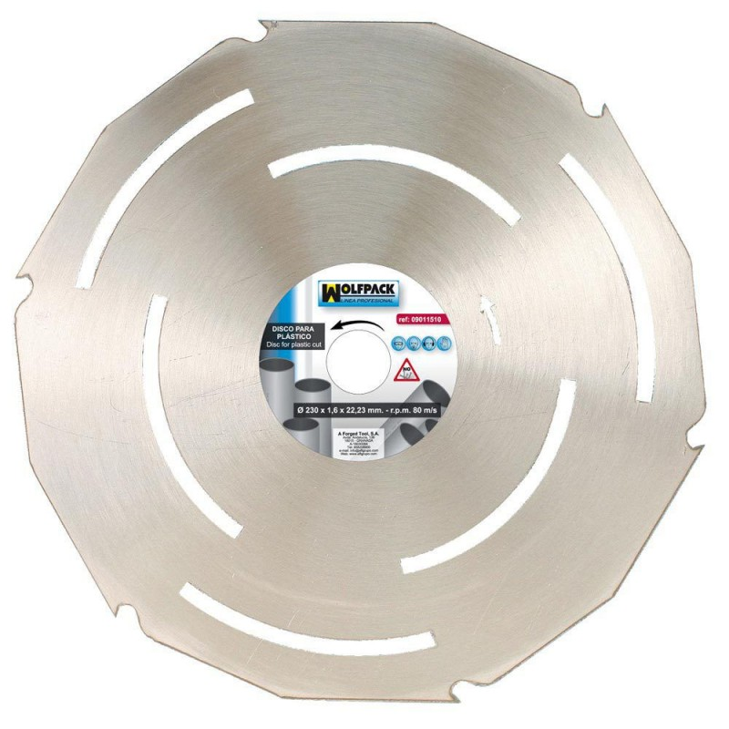 Disk Plastic Materials 230mm.
