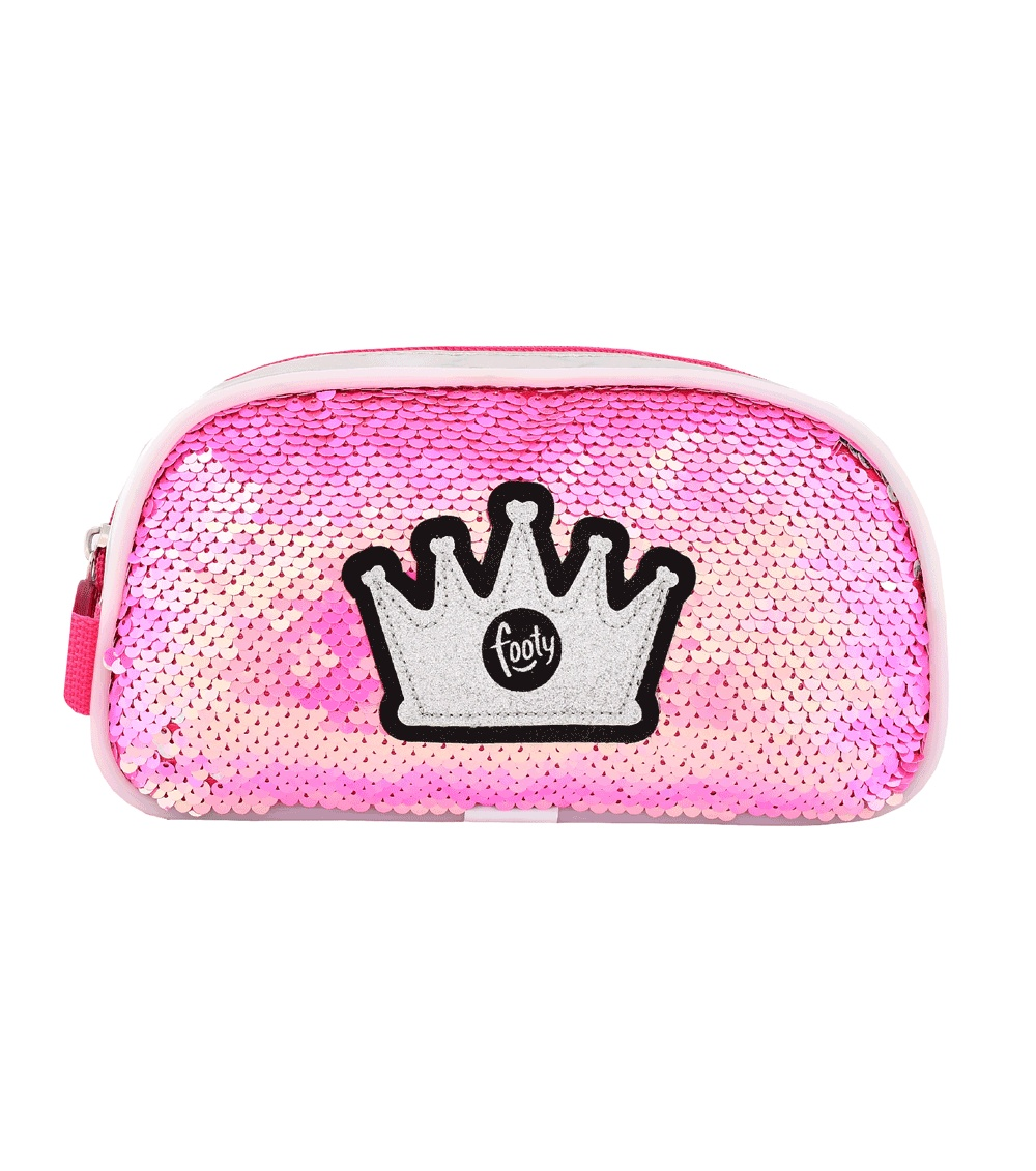 FOOTY Case Double Crown Fuchsia With LED Light AND Sequins