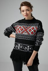 Joinus Knitted Tunic With Fringe Woman Multi