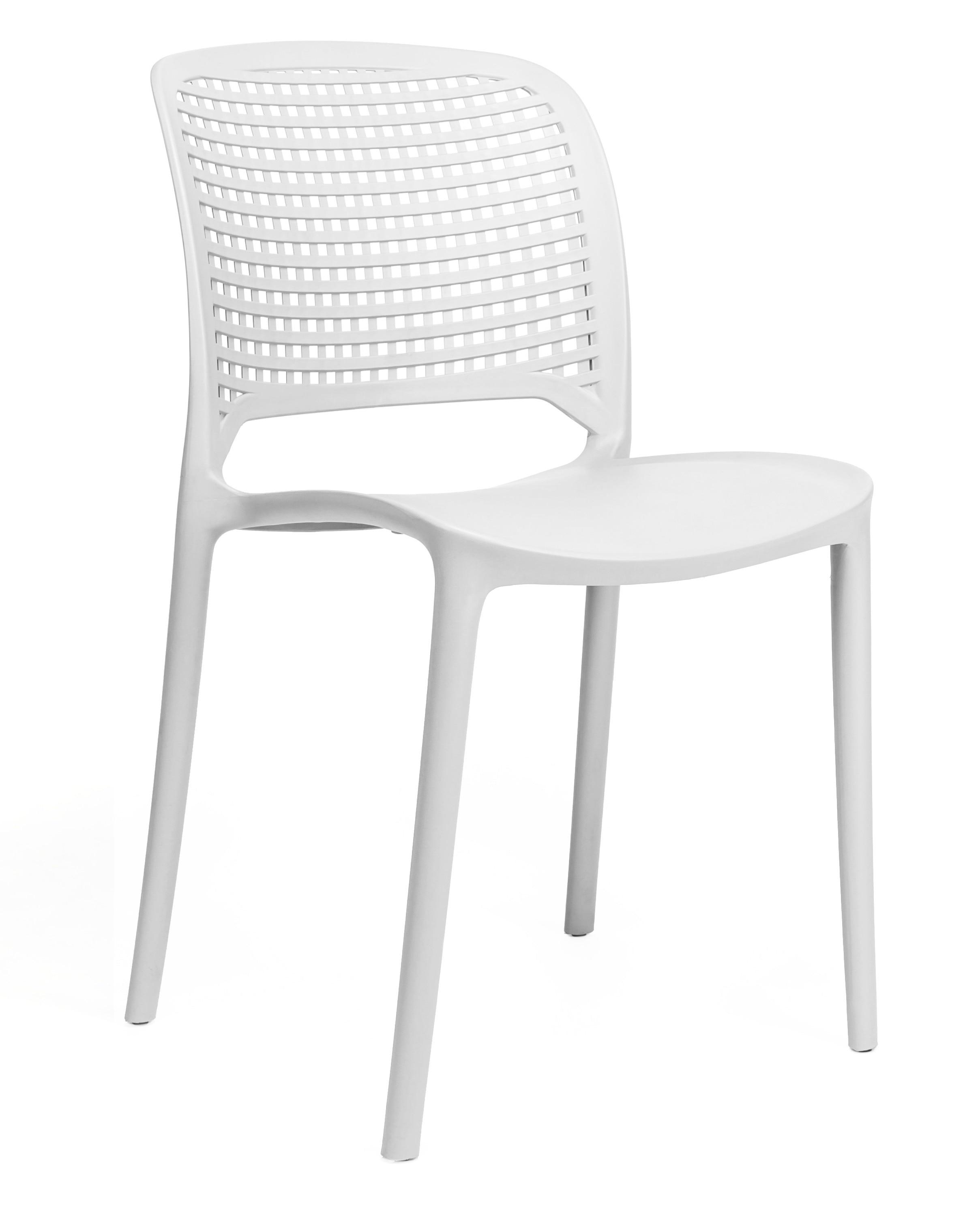 Chair POLYNESIA, Stackable, White Polypropylene