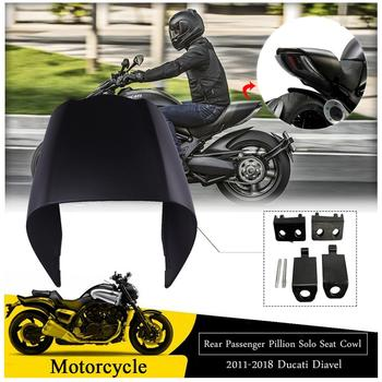For 2011-2018 Ducati Diavel Motorcycle Frame Black Rear Tail Passenger Pillion Solo Hard Seat Cowl Cover 2017 2016 2015 2014