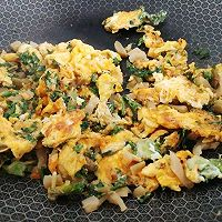 芥辣油煎荠菜蛋的做法图解7