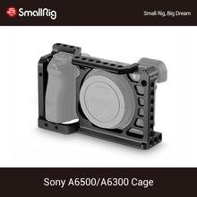 Клетка SmallRig a6500 для камеры Sony A6500/A6300, защитная клетка для цифровой зеркальной камеры с креплением для холодного башмака 1/4 3/8, резьбовые отвер...