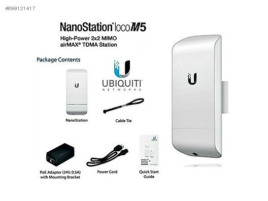 Ubiquiti NanoStation Loco M5, Point To Multipoint Outdoor Access ...
