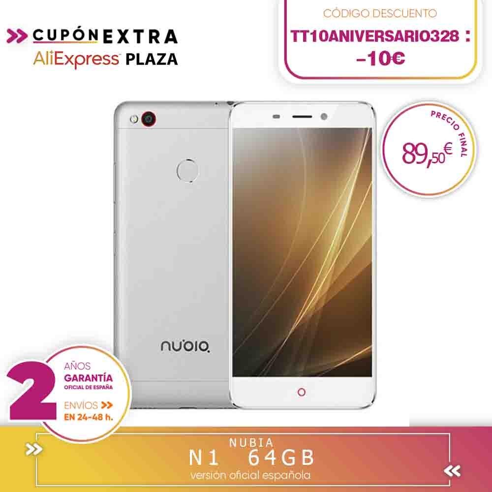 -Garantia quadrada-zte nubia n1 5.5 Polegada tela fhd 3 gb ram duro 64 gb rom 13.0mp cam mtk hélio p10 octa núcleo 4g lte android 6.0