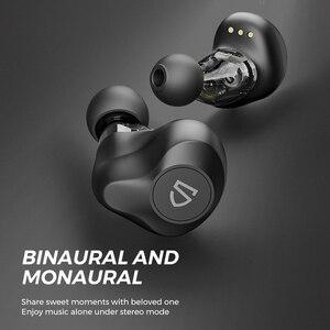 Image 4 - SOUNDPEATS سماعات لاسلكية ديناميكية ثنائية، بلوتوث 5.0, APTX صوت CVC إلغاء الضجيج، تشغيل 27 ساعة