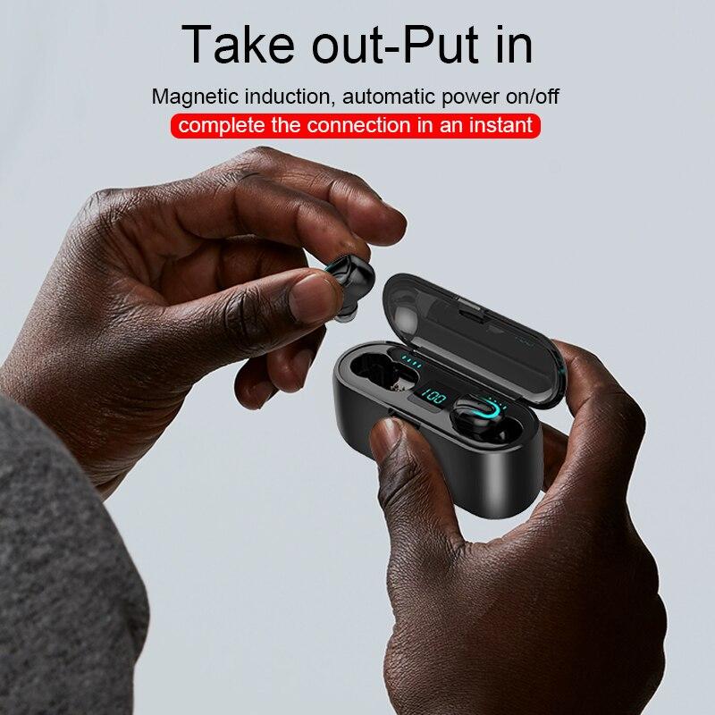 Q32 Bluetooth Earphones Sport Blutooth 5.0 Earphone Wireless Headphones Tws Headphone Handsfree Earbud Earpieces With Mic