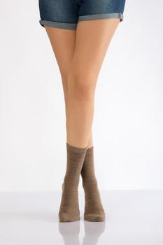 Idilfashion Women Gradient Thermal Socket Stocking-Beige-B-ART012 (pakiet 3 #8217 LÜ) tanie i dobre opinie Lateks COTTON