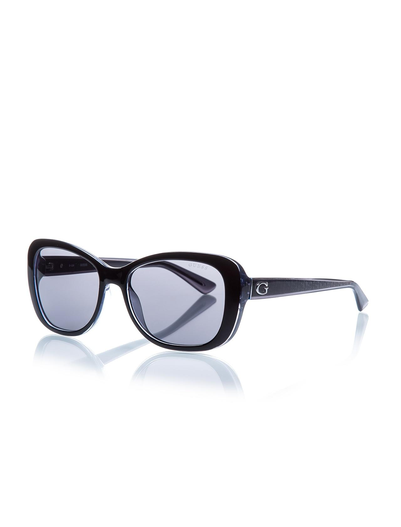 Women's sunglasses gu 7475 01a bone black organic 56-guess