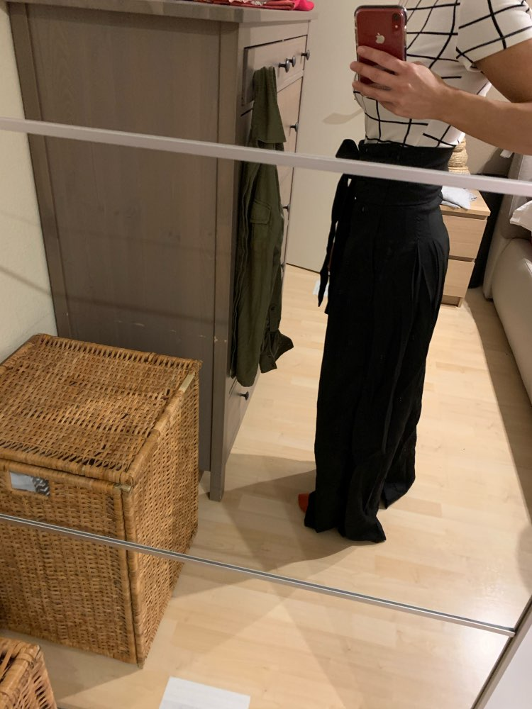Self Belted Box Pleated Palazzo Pants Women Elegant Loose Long Pants Fall Ginger High Waist Wide Leg Pants photo review