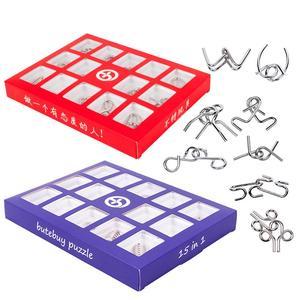 15pcs/Set 3D Metal Puzzle Kids