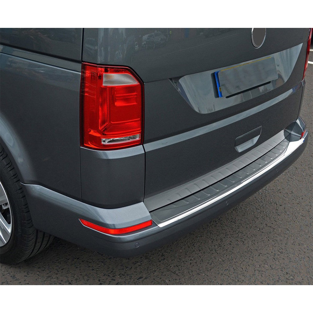 For Volkswagen VW T6 Transporter Chrome Rear Bumper Sill Stone. Double Door 2015 And Up. Stainless Steel. A + Quality