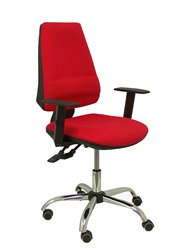 Cadeira de escritório ergonómica com mecanismo asincro e altura ajustável-assento e encosto estofados em tecido bali c