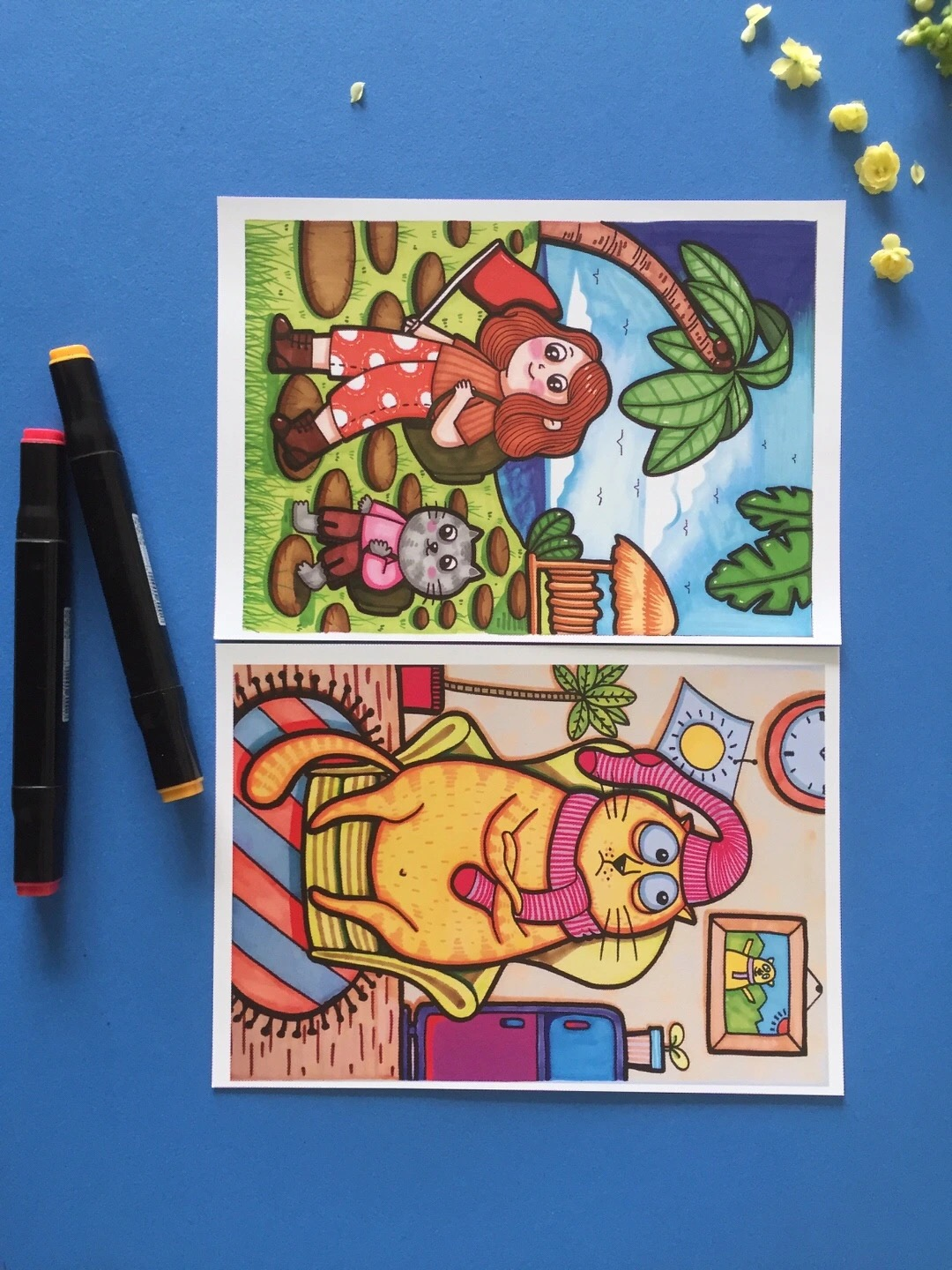30/40/50/60 Pieces Art Marker Copy Painting Card Cartoon Animal Color Drawing Coated Paper Teaching Materials For Kids