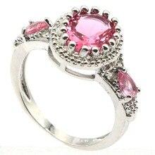 21x12 мм SheCrown милые 3,3g создана розовый турмалин для девочек, одежда на каждый день, Серебряные кольца, оптовая продажа, Прямая доставка