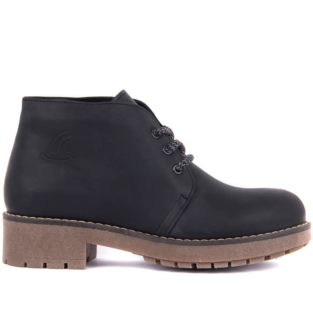 Sail-Lakers Black Women Nubuck Boots