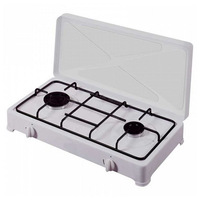 gas stove Vitrokitchen 200BN White (2 Stoves)|Placas de cocción|   -