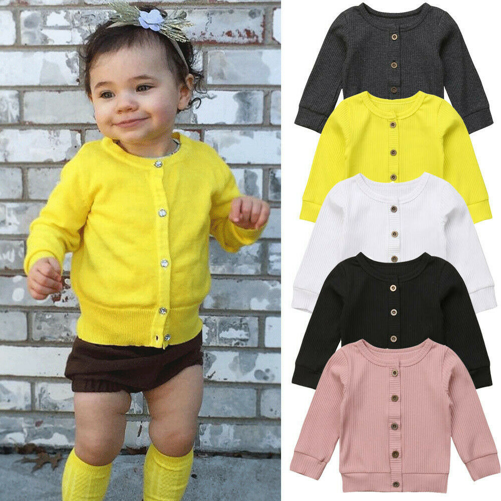 2019 Children Baby Kids Girl Boy Knitted Sweater Cardigan Tops Outfit Colorful Tees Hot New