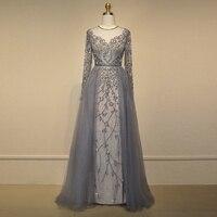 Charming Crystal Evening Dress Beaded Sparkly Evening Dresses Vestido de festa Long Elegant Prom Dress robe de soiree Party Gown