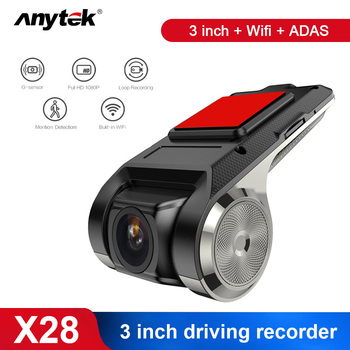 Anytek 1080P WIFI Car DVR Radar Detector ADAS USB Motion Detection Night Vision Parking Monitor Dash Cam image