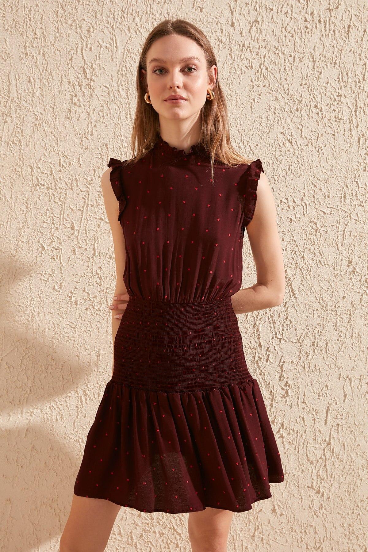 Trendyol Gipeli Patterned Dress TWOSS20EL1280