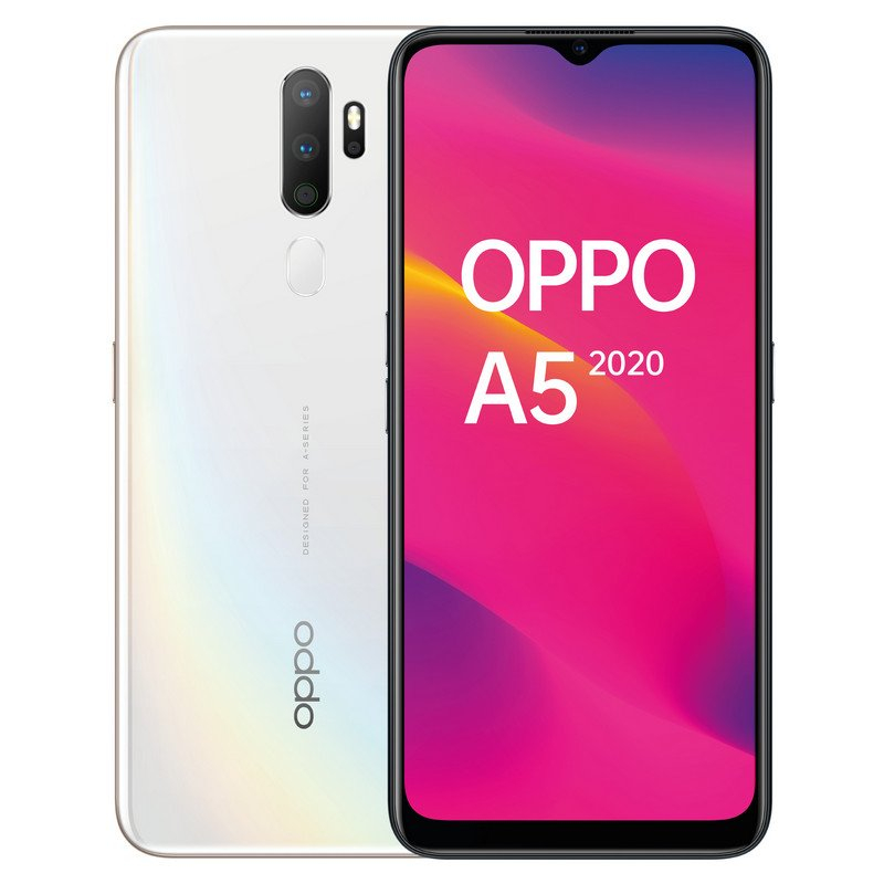 OPPO Phone A5 (2020), White Color (White), 64 GB Of Internal Memory 3 GB RAM, HD Screen + 6.5