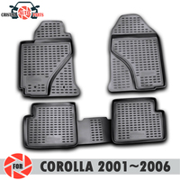 Floor mats for Toyota Corolla 2001~2006 rugs non slip polyurethane dirt protection interior car styling accessories
