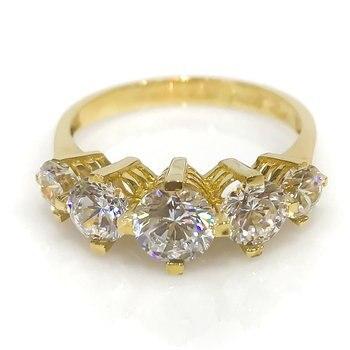Diamond Model Row Dibs Gold Wedding Band Ring 1