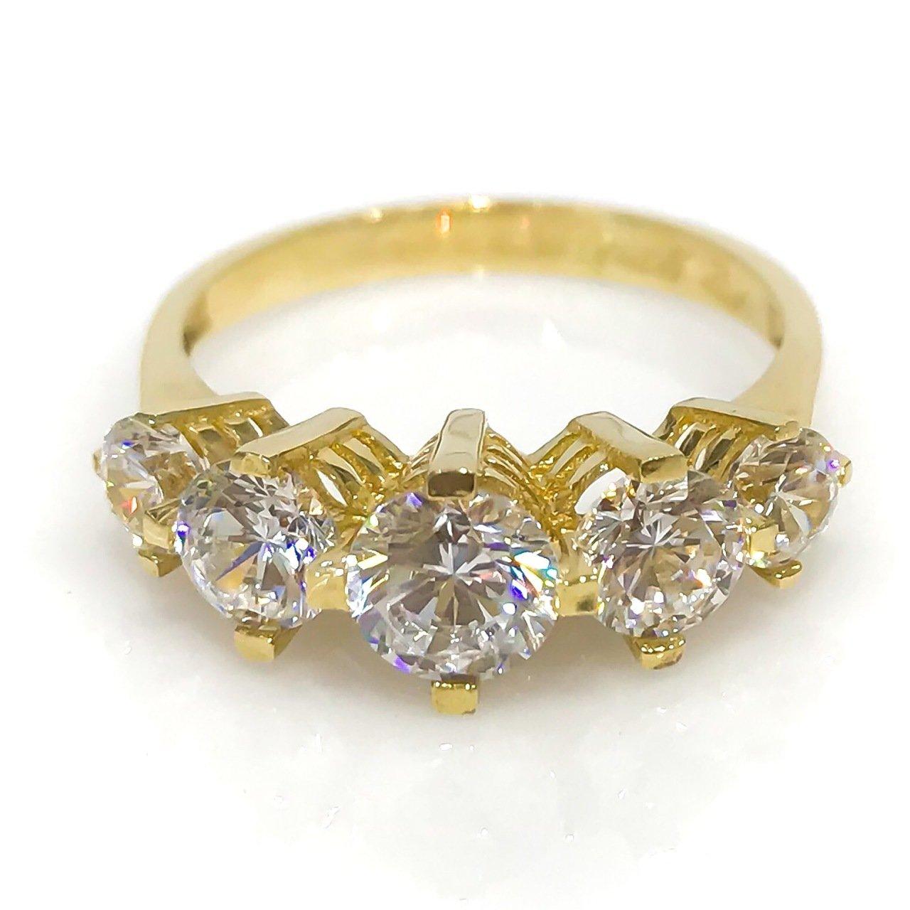 Diamond Model Row Dibs Gold Wedding Band Ring