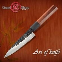 Маленький нож ручной работы 145 мм, японская модель, 3 слойный мини шеф повар из нержавеющей стали, кухонные инструменты для домашнего приготовления, мясницкий нож, нарезка фруктов