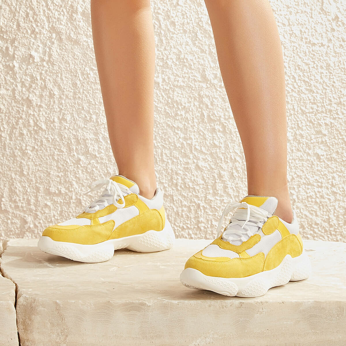 FLO FLITTER51Z Yellow Women 'S Sneaker Shoes BUTIGO