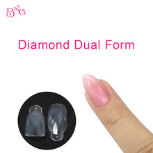 120 шт./компл. накладные ногти форма алмазные наконечники расширение Поддельные ногтей УФ гель маникюр двойная система строитель полное покр...
