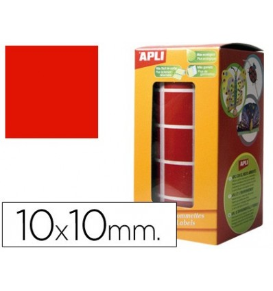GOMETS SELF-ADHESIVE SQUARE 10X10 MM RED IN ROLL
