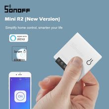 SONOFF – Mini commutateur Wifi MINIR2, bricolage, câblage bidirectionnel, Modules domotique intelligents compatibles avec eWelink Alexa Google Home