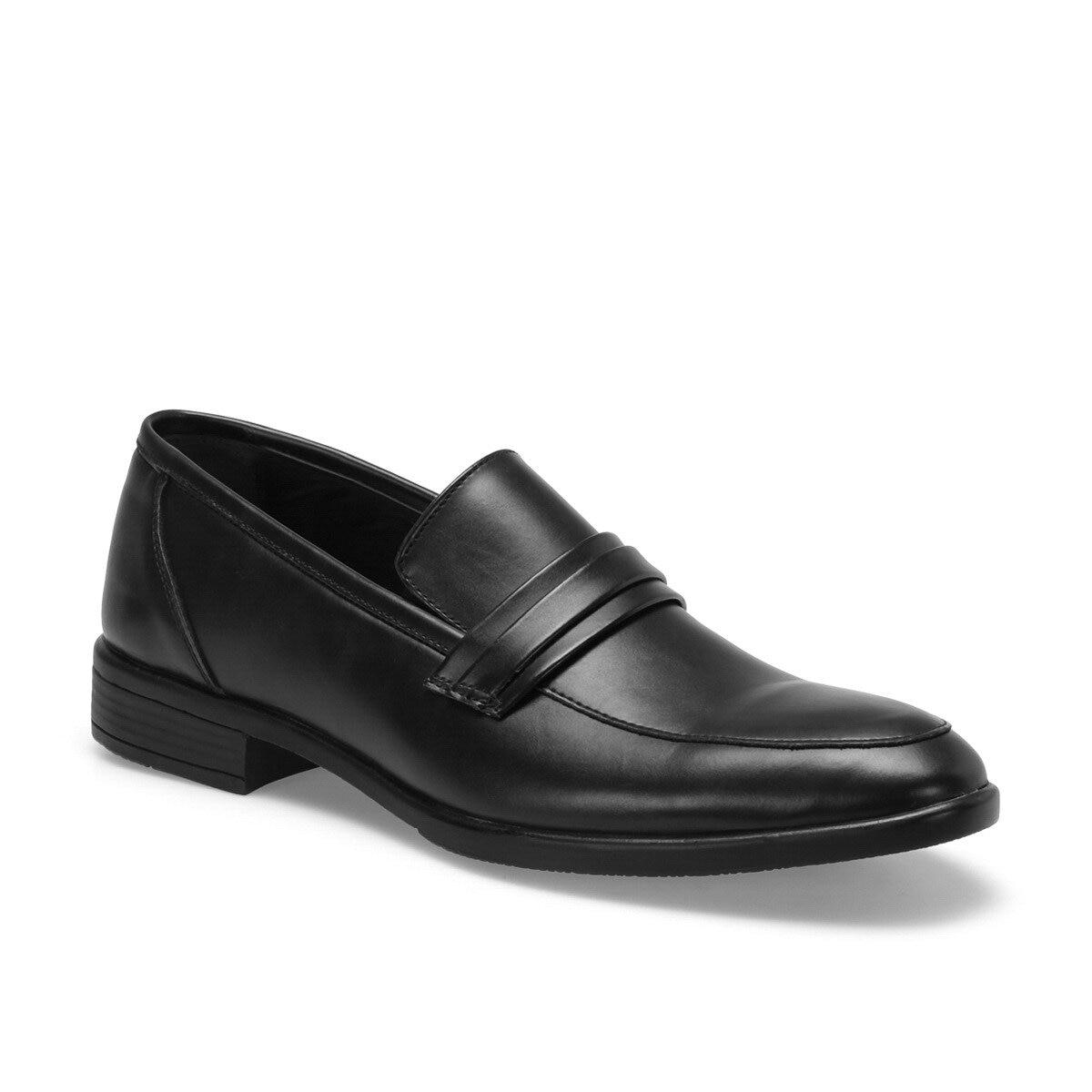 FLO 115 C negro mocasín para hombres de la ciudad