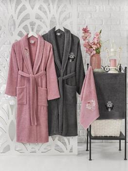 Zestaw ubrań dla rodziny zestaw dowries 4 szt 100 bawełna Trend elegancki zestaw ręczników zestaw męskich szlafroków zestaw ubrań dla rodziny tanie i dobre opinie No Brand TR (pochodzenie) Zestawy szlafrokowe