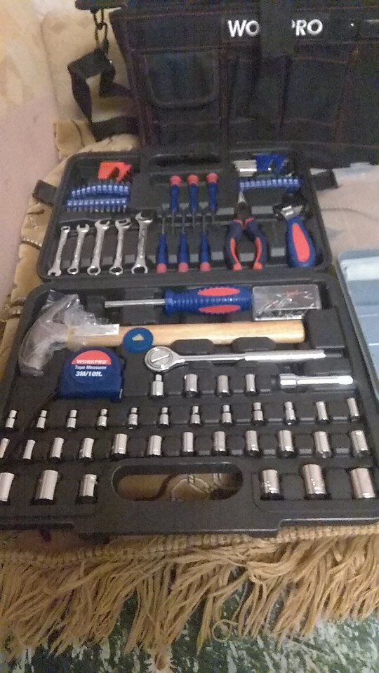 Set of tools 165 pcs WORKPRO W009042AE Tool Set Hand tool set wrench|Hand Tool Sets|   - AliExpress