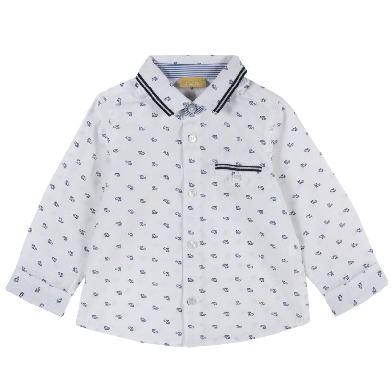 Фото - Shirt Chicco, size 092, color White shoes velcro genuine leather chicco size 200 color white