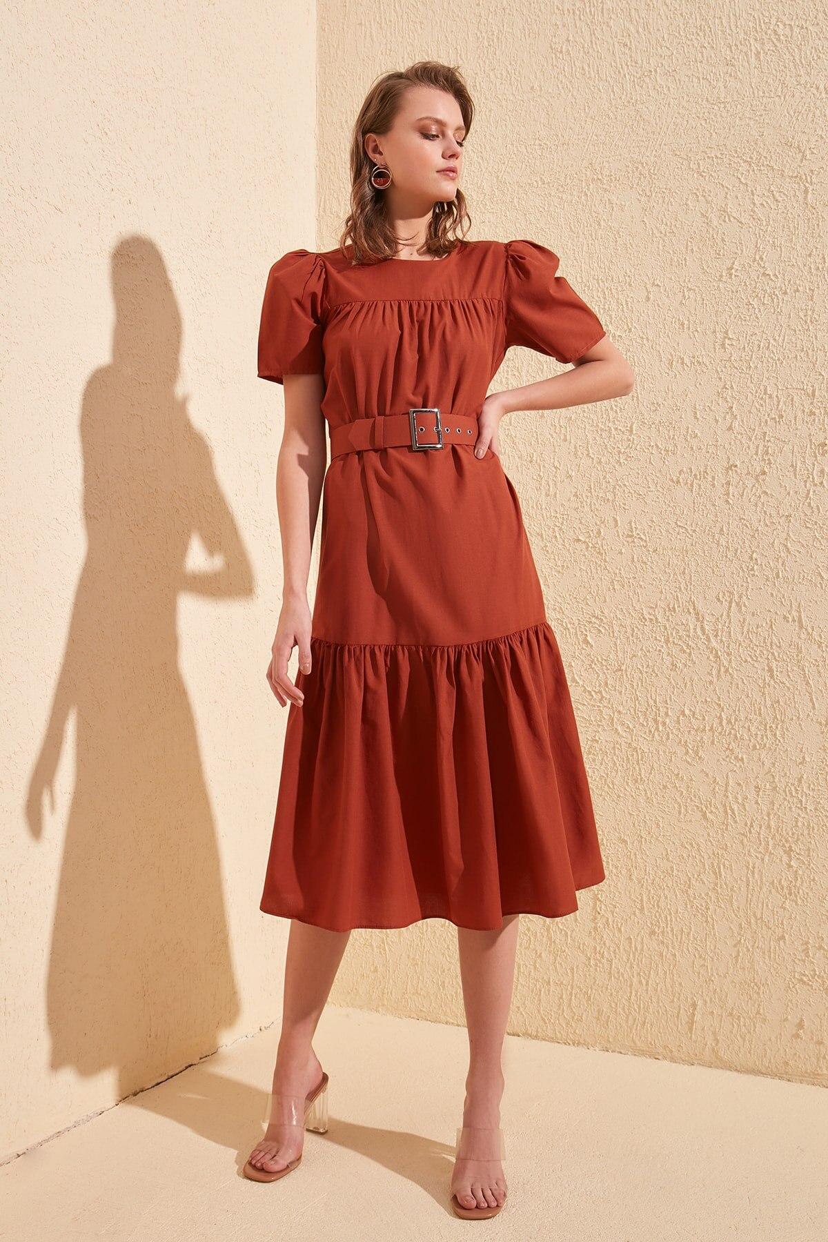 Trendyol Arched Dress TWOSS20EL1776