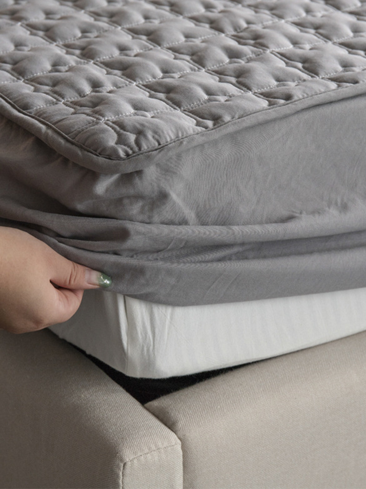 Bed-Cover QUILTED-KING Washable ADOREHOUSE Queen-Size Cotton Embossed