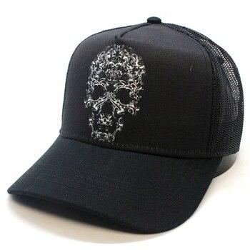 Cap SKULL TRIBAL top hats black cap, baseball caps, cap for men, cap for women, trucker, hip hop, hat, summer, bucket, Panama недорого